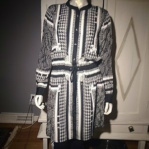 Michael Kors black and white shirt dress